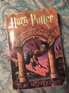 Just tried digging through my basement and library, and my copy is nowhere to be found... but it's about as old and shabby as this copy of Sorcerer's Stone-- the book in Harry is first assigned the text.